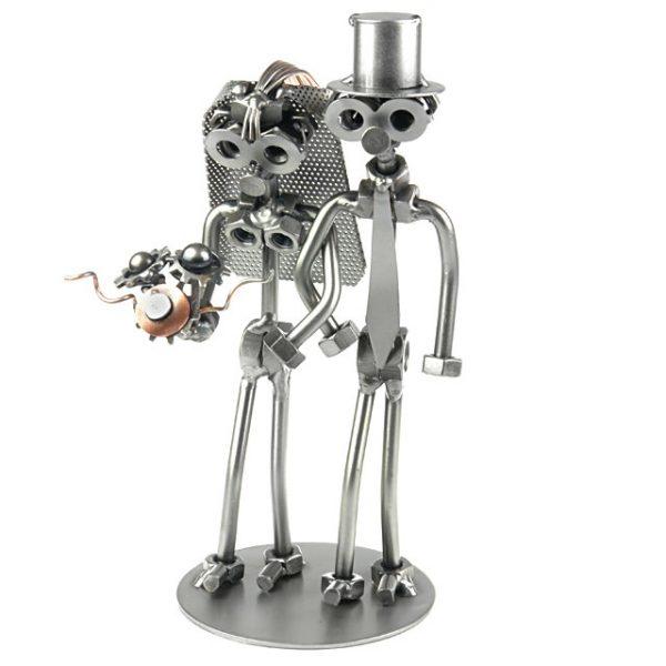 Schraubenmännchen Brautpaar - das JA! Wort aus Stahl