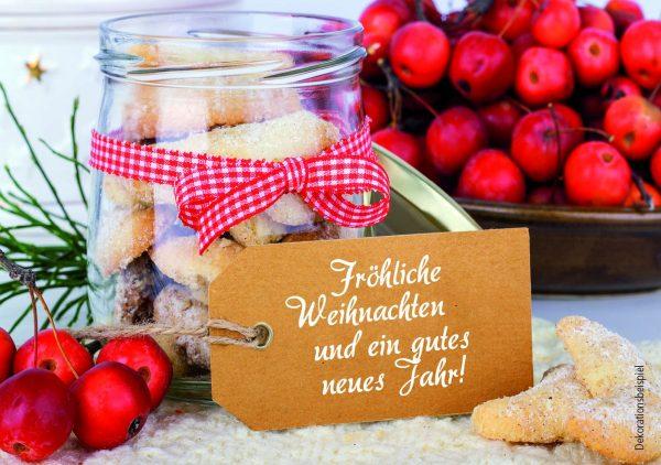 """Teekarte """"Fröhliche Weihnachten"""""""