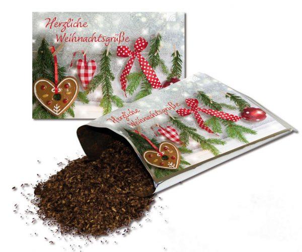 """Teekarte """"Herzliche Weihnachtsgrüße"""""""