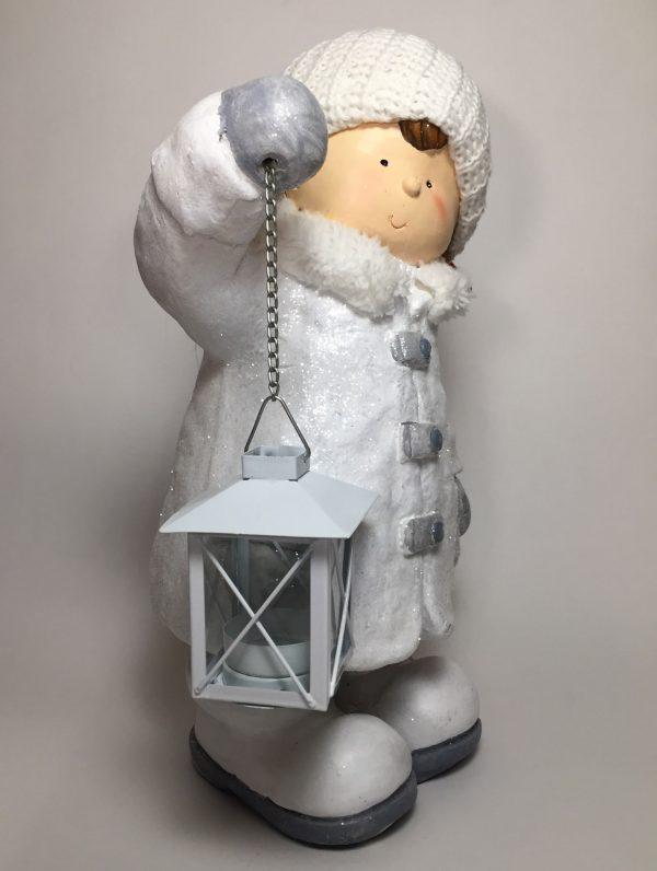 Deko Winterkind Mädchen mit Laterne