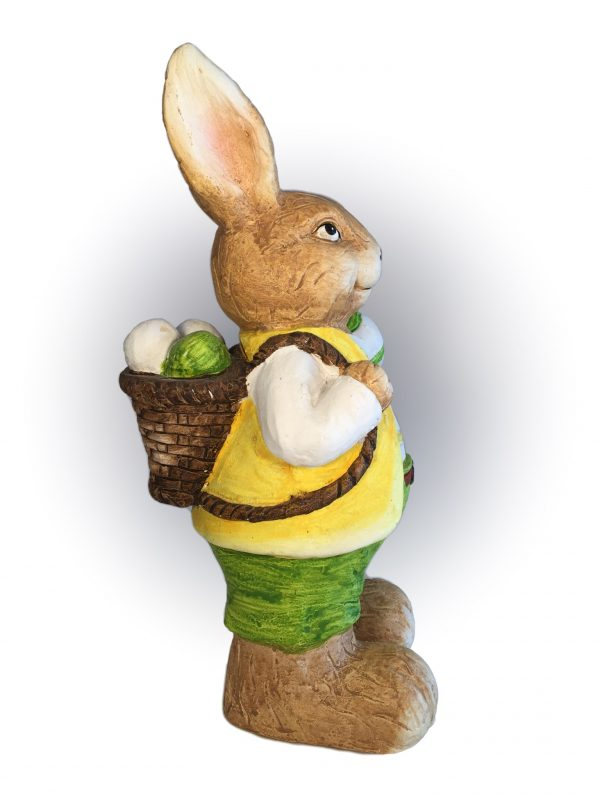 Deko Osterhase mit Eierkorb