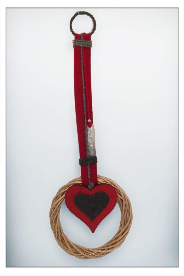 Wanddeko Türhänger Kranz Herz