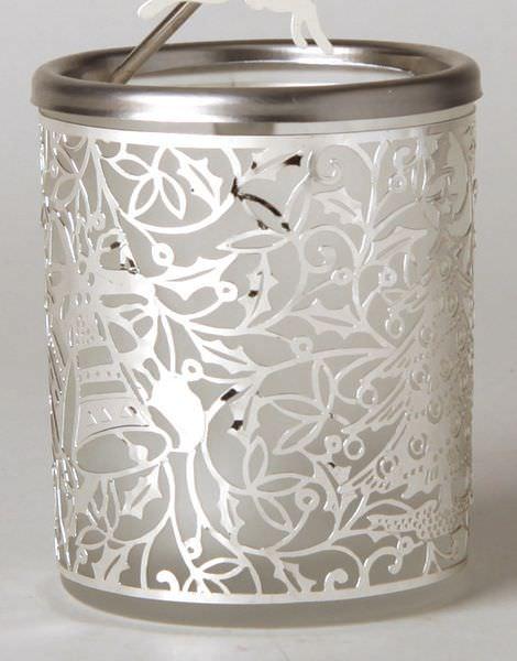 Glas Karussell Windlicht Rentier Teelicht | weihnachtlich Dekorieren