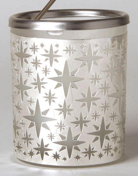 Glas Karussell Windlicht Stern Teelicht | weihnachtlich Dekorieren