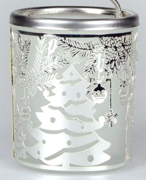 Glas Karussell Windlicht Nikolaus Teelicht | weihnachtlich Dekorieren
