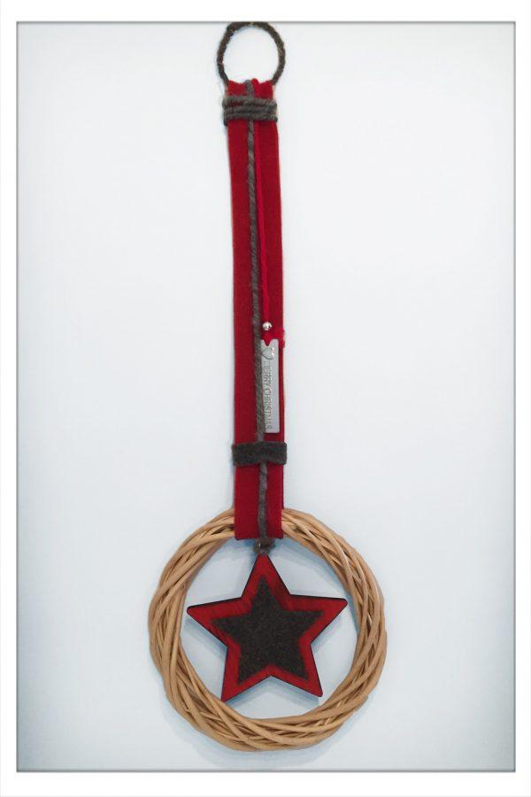 Wanddeko Türhänger Kranz Stern