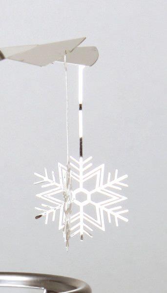 Glas Karussell Windlicht Schneeflocke Teelicht | weihnachtlich Dekorieren