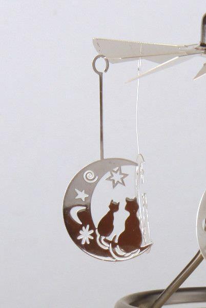 Glas Karussell Windlicht Halbmond Teelicht | weihnachtlich Dekorieren