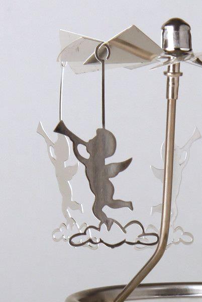 Glas Karussell Windlicht Engelstrompete Teelicht | weihnachtliche Deko