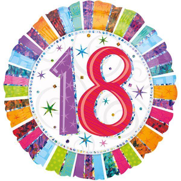 Folienballon 18. Geburtstag | ungefüllt oder Helium gefüllt schon ab 1,99 €