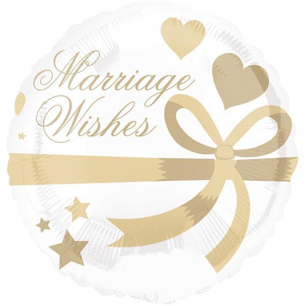 Folienballon Hochzeitswünsche - Marriage Wishes