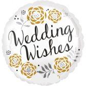 Folienballon Blumige Hochzeitswünsche - Wedding Wishes