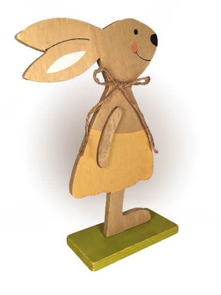 Deko Osterhasen aus Holz | Hasenjunge/ -mädchen |Höhe 20,Breite 13cm