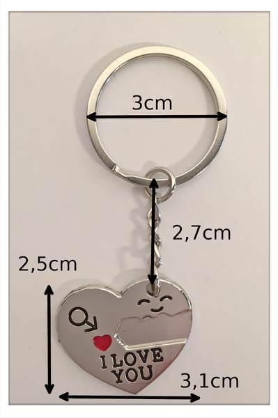 Schlüsselanhänger Herz mit Schlüssel - Zeigen Sie nicht nur zu Valentinstag Ihrem Partner Ihre Verbundenheit auf ganz besondere Weise. kleiner Liebesbeweis