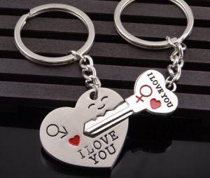 Schlüsselanhänger Herz mit Schlüssel