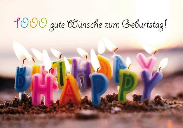 Teekarte 1000 gute Wünsche zum Geburtstag! Geburtstagsteepost | 2,99€