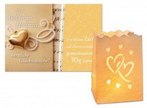 Laternenkarte Zur Goldenen Hochzeit | Glückwünsche mal anders senden!