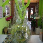 Ballongeschenkverpackung Ballongeschenk zum 18. Geburtstag in gelb-grün-weiß.