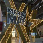 Christmasworld LED-Leuchtschriftzug Merry X-Mas