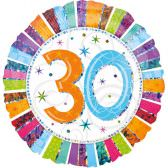 Folienballon 30. Geburtstag | ungefüllt oder Helium gefüllt schon ab 1,99 €