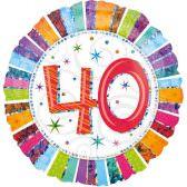 Folienballon 40. Geburtstag | ungefüllt oder Helium gefüllt schon ab 1,99 €
