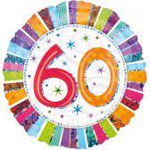 Folienballon 60. Geburtstag | ungefüllt oder Helium gefüllt schon ab 1,99 €