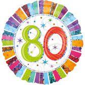 Folienballon 80. Geburtstag | ungefüllt oder Helium gefüllt schon ab 1,99 €