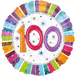 Folienballon 100. Geburtstag | ungefüllt oder Helium gefüllt schon ab 1,99 €