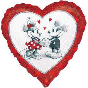 Folienballon Micky & Minnie Liebespaar - Hochzeitsdeko Heliumballon