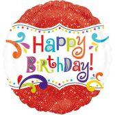 Folienballon Geburtstagsspektakel | ungefüllt/Helium gefüllt | Geburtstag