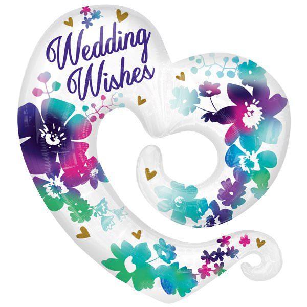 XXL Folienballon Blumige Hochzeitswünsche – Wedding Wishes