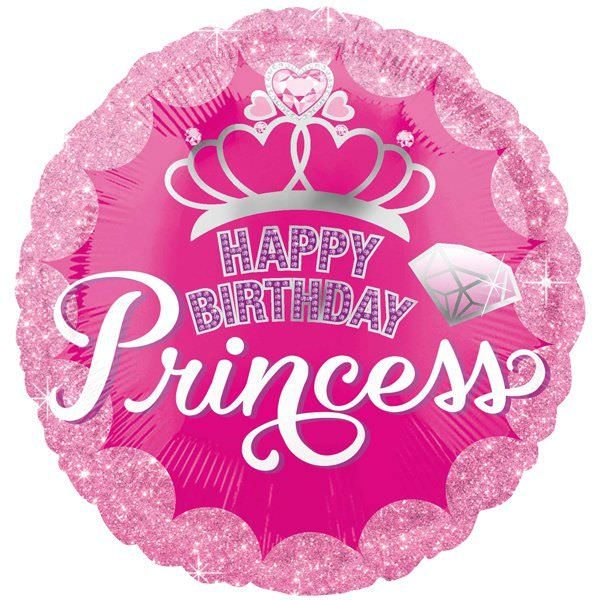 Folienballon Geburtstagsprinzessin | ungefüllt/Helium gefüllt | Geburtstag