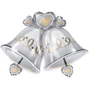 XXL Folienballon Hochzeitsglocken