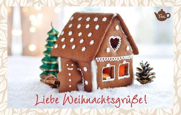 Teekarte Liebe Weihnachtsgrüße | Weihnachtspost in Teeform