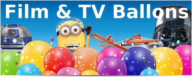 Folienballon Film & TV - Kauf dir Deine Fernseh-Vorbilder als Folienballon