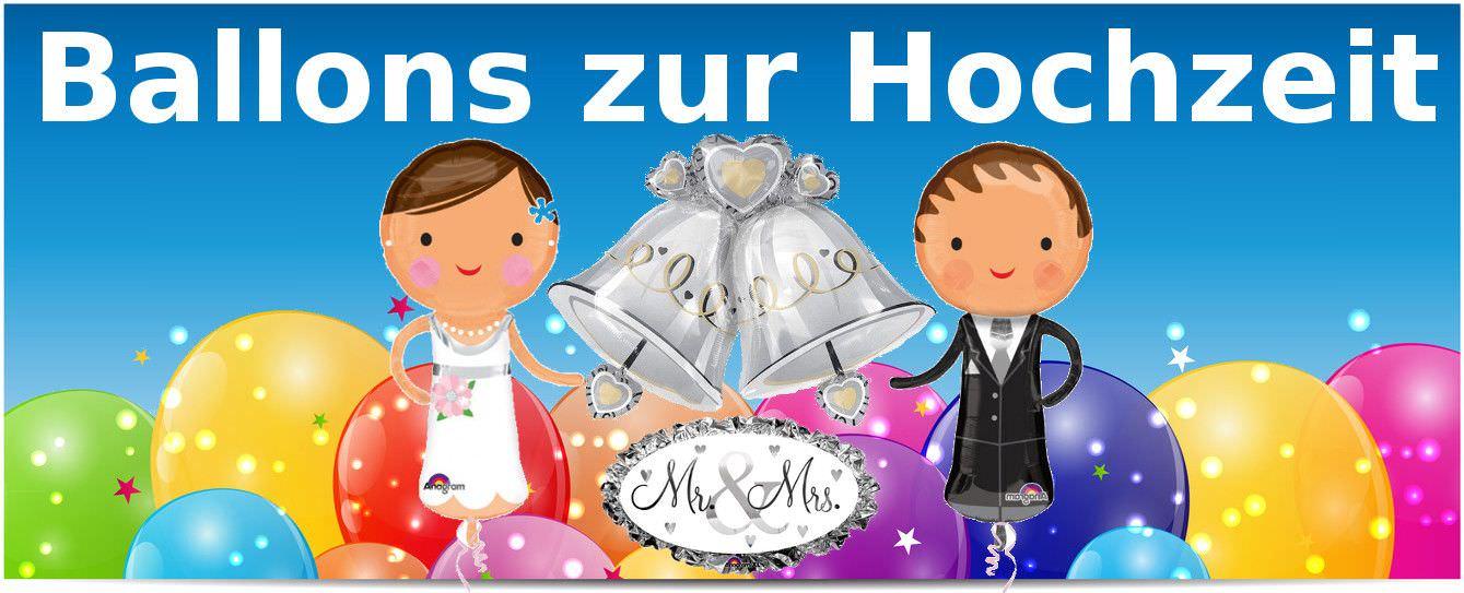 Folienballon zur Hochzeit & Junggesellenabschied als Geschenk oder Dekoration in super Qualität! Mit Ballongas als Heliumballon oder mit Luft als normaler Luftballon verwendbar