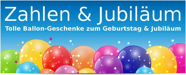 Heliumballons / Folienballons Zahlen / Jubiläum für Geburtstage & runde Jubiläen verpackt oder gefüllt mit Ballongas kaufen. Als Heliumballon genauso wie als Luftballon geeignet.