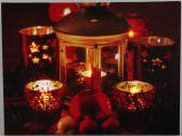 LED Weihnachtsbild Laterne & Teelichter mit 5 Leds Weihnachten Winter