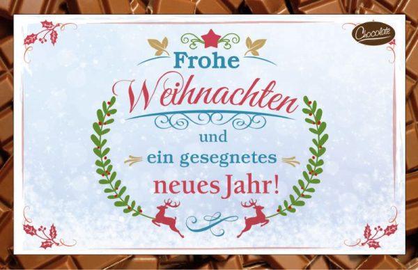 Schokokarte Frohe Weihnachten & ein gesegnetes neues Jahr ! Trinkschokolade als Briefgruß