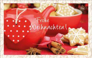 Teekarte Frohe Weihnachten! Teekanne | Weihnachtspost in Teeform