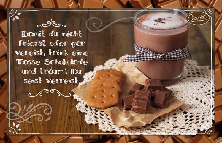 Schokokarte Trinkschokolade - Schokogruß per Post versenden
