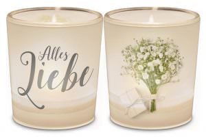 Licht für Dich Hochzeit Alles Liebe von Geschenk für Dich :-) LaVida Deko Windlicht