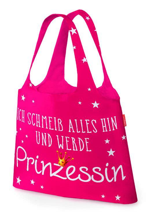 Tasche für Dich Ich schmeiss alles hin... Prinzessin | Schultertasche von Geschenk für Dich | LaVida | aus Polyester
