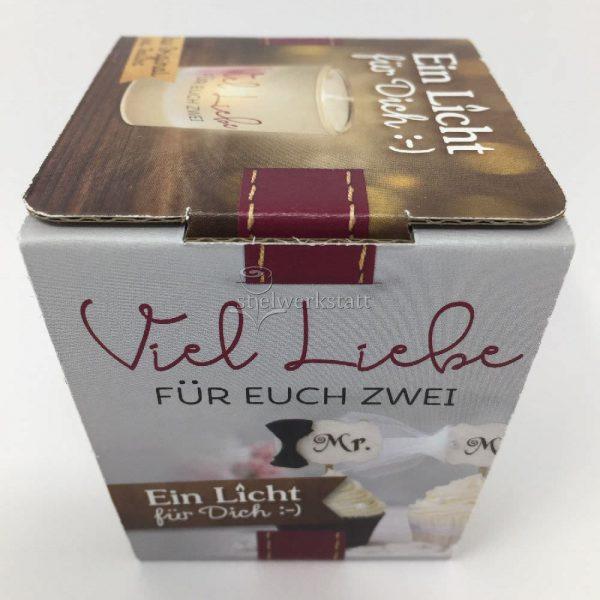 Licht für Dich Hochzeit Viel Liebe mit Geschenkverpackung von Geschenk für Dich :-) LaVida Windlicht Deko