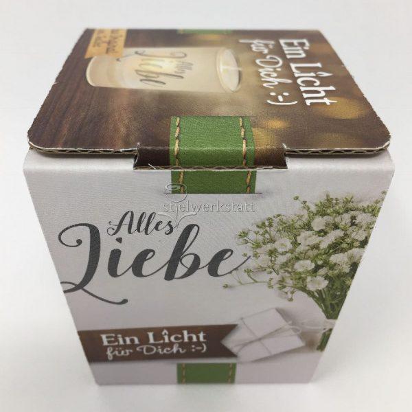 Licht für Dich Hochzeit Alles Liebe Geschenkverpackung von Geschenk für Dich :-) LaVida Deko Windlicht