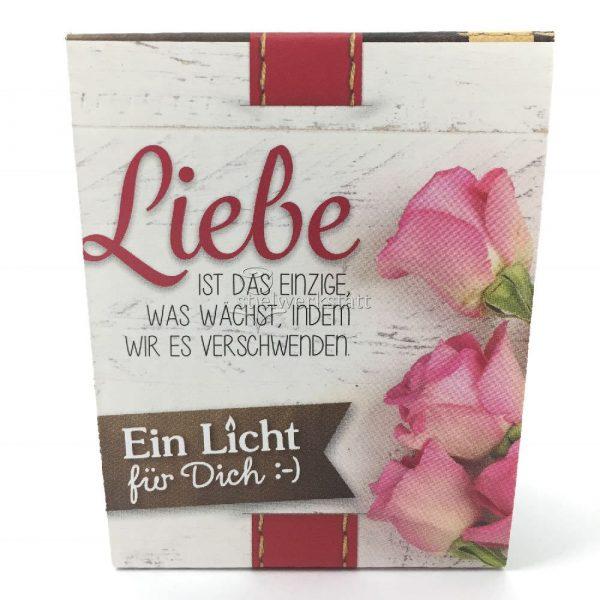 Ein Licht für Dich Hochzeit Liebe wächst Geschenkverpackung von Geschenk für Dich :-) LaVida Windlicht