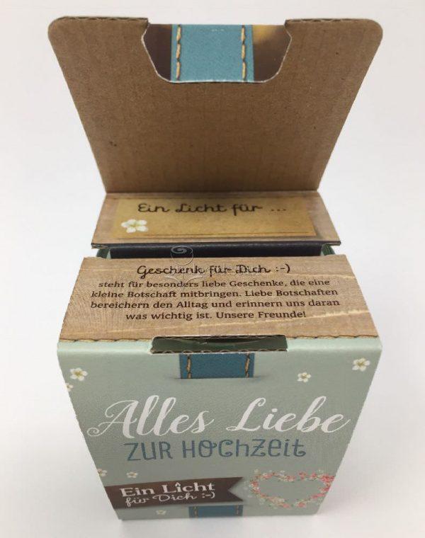 Licht für Dich Alles Liebe zur Hochzeit Geschenkverpackung von Geschenk für Dich :-) LaVida Windlicht