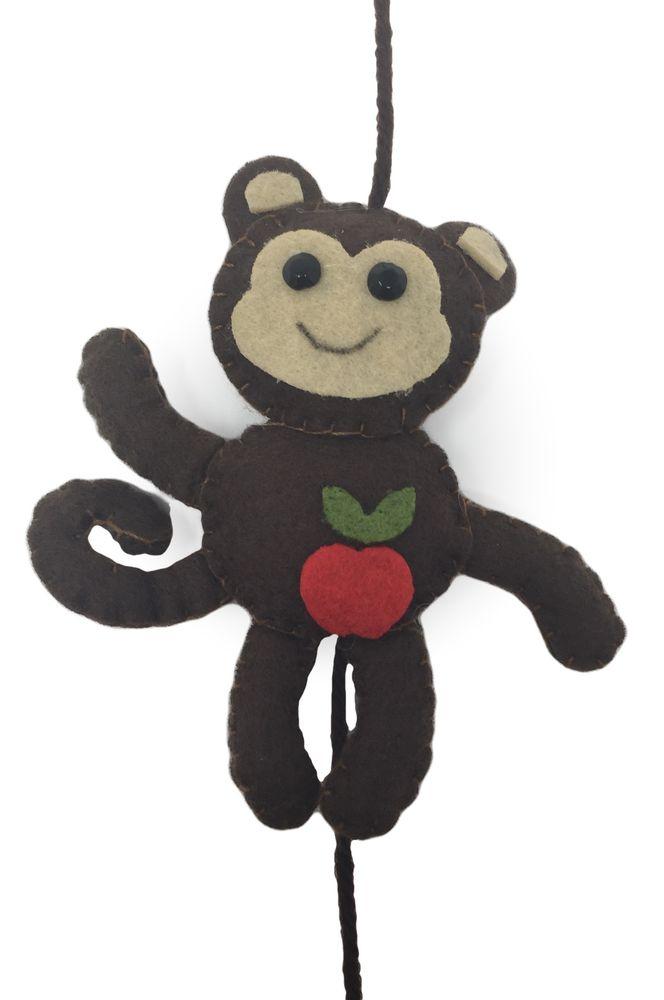 Filzgirlande Affe Banane Girlande Chunky Kong Kindergirlande
