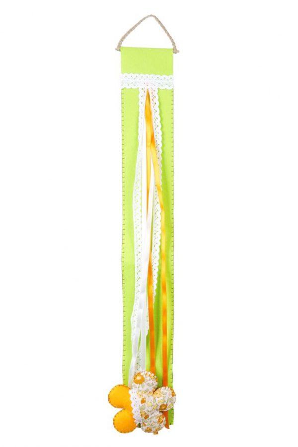 Türdeko Filz grün Dekohänger Blume Primavera