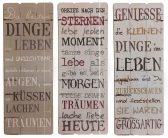 Dekoschild Poesie motivierende lebensfrohe Sprüche - Wandbild aus Holz